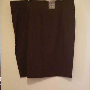 Brown mid rise curvy NWT XXL I.N.C Skirt